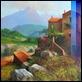 Dipinti ad Olio - Luigi Spadini - Vecchi caseggiati