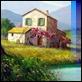 Dipinti ad Olio - Luigi Spadini - Casolari con laghetto