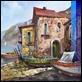 Dipinti ad Olio -  - Borgo marino