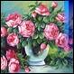 Dipinti ad Olio -  - Vaso con rose