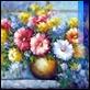 Dipinti ad Olio -  - Vaso con fiori