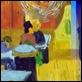 "Dipinti ad Olio -  - da V. Van Gogh ""Caffè di notte"""
