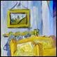"""Dipinti ad Olio -  - da V. Van Gogh """"La camera da letto"""""""