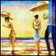 Dipinti ad Olio -  - Sulla spiaggia