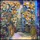 Dipinti ad Olio -  - Scalinata in fiore