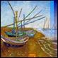 """Dipinti ad Olio -  - da V. Van Gogh """"Barche"""""""