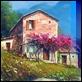 Dipinti ad Olio - Luigi Spadini - Casolari in collina