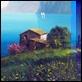 Dipinti ad Olio - Luigi Spadini - Case sul lago