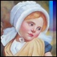 Dipinti ad Olio -  - Bambina con mele