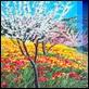 Grafica di Autore - Franco Azzinari - Mandorli in fiore
