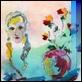 Grafica di Autore - Ernesto Treccani - Volto  con vaso di fiori